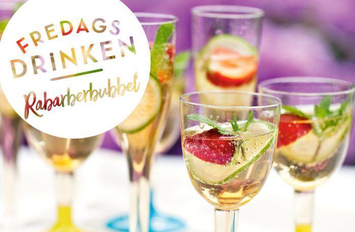Fredagsdrinken – så gör du Rabarberbubbel