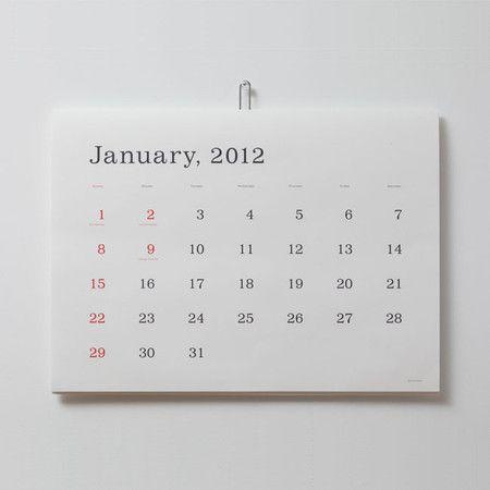 葛西 薫 : 葛西薫カレンダー