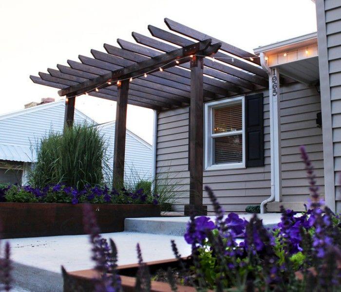 how to make house entrance impressive with pergola. Black Bedroom Furniture Sets. Home Design Ideas