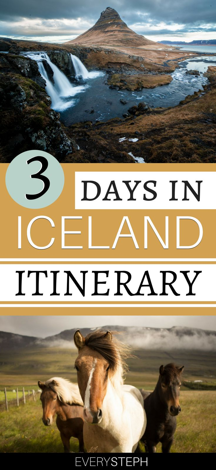 A trip to Iceland is a magical one, and luckily the country is way easier to reach nowadays! Check out this 3 days in Iceland itinerary that can be easily done with an Iceland layover: the Blue Lagoon, Icelandic horses, and the most beautiful landscapes await you! | 3 days in Iceland summer | 3 days in Iceland winter | 3 days in Iceland northern lights | where to go in Iceland #iceland #itinerary - via @everysteph