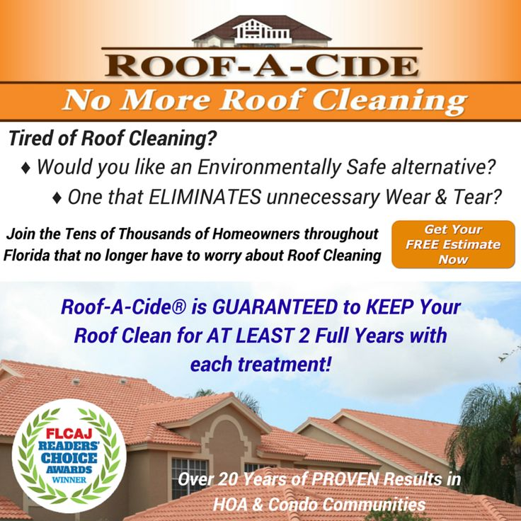 Tired of Roof Cleaning? Visit our site to get a Free, No