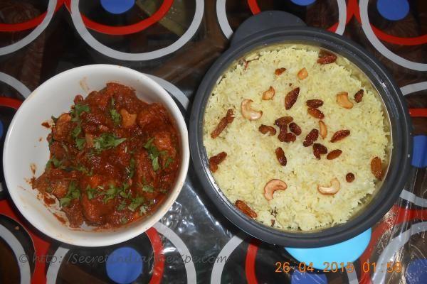 http://secretindianrecipe.com/recipe/coconut-milk-flavoured-rice-and-chicken-gravy