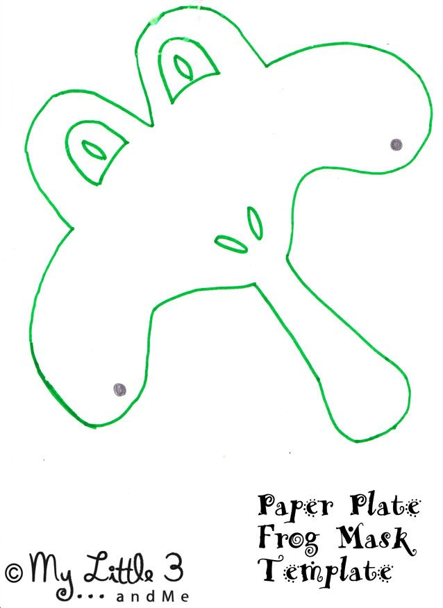 Paper-Plate-Frog-Mask-Templ
