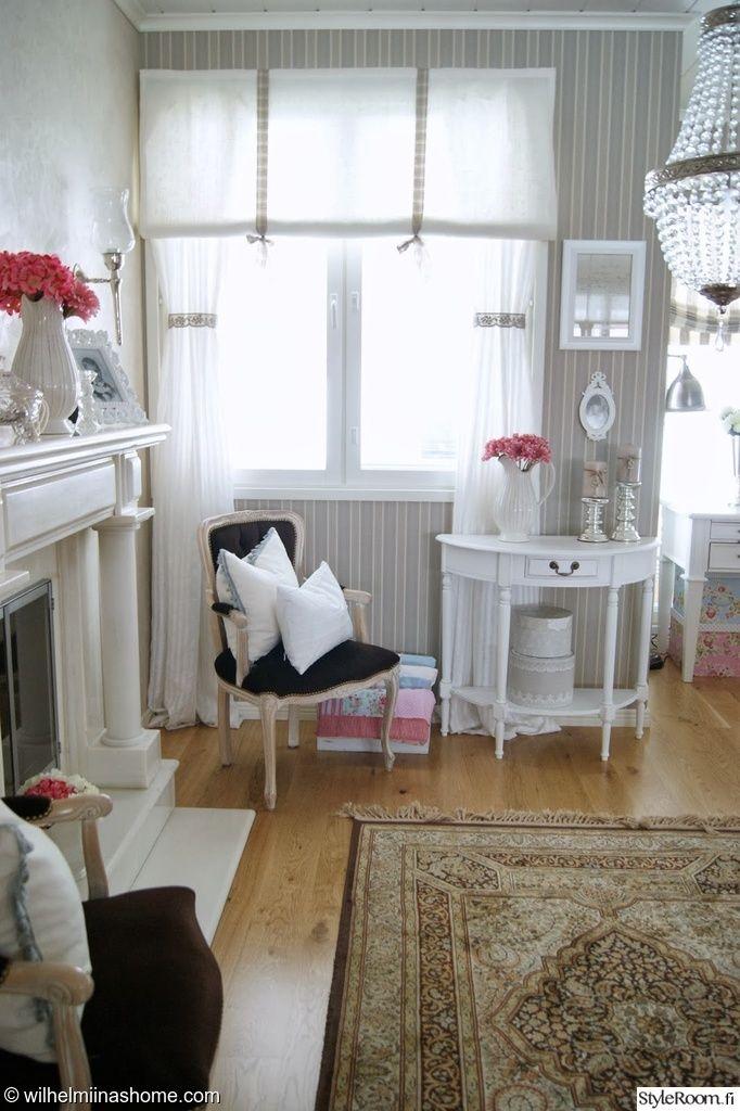 """Käyttäjän """"Wilhelmiinashome"""" koti pursuaa erilaisia yksityiskohtia. #styleroom #inspiroivakoti #maalaisromanttinen #olohuone"""