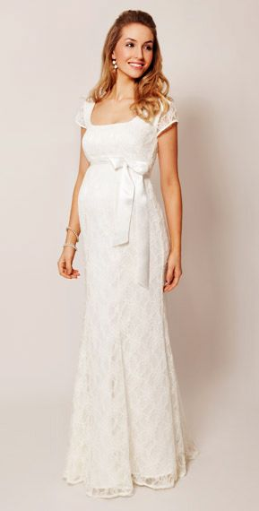 Eva Lace Maternity Gown (Cream) by Tiffany Rose