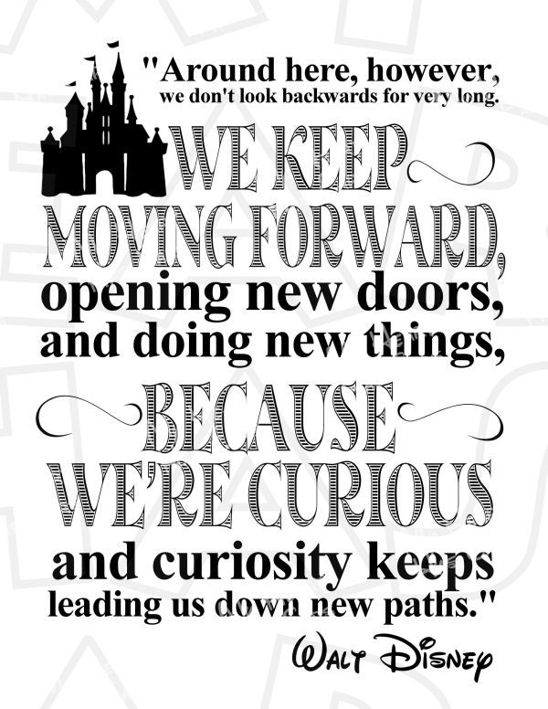 Keep moving forward Walt Disney quote INSTANT DOWNLOAD digital clip art DIY for shirt :: My Heart Has Ears