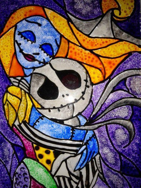 Nightmare Before Christmas Jack und Sally von SuziesGlassDesigns
