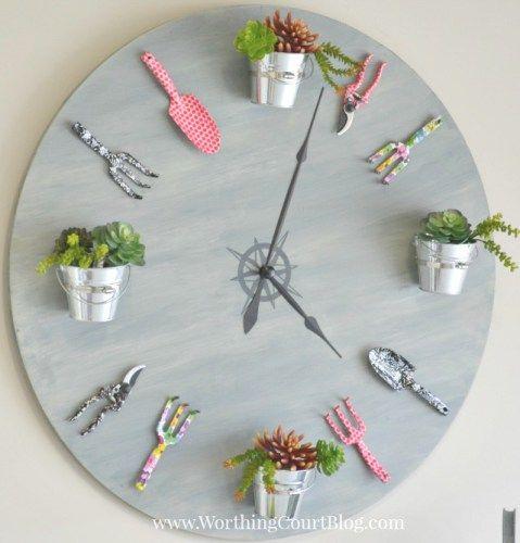 How to Make a Garden Clock