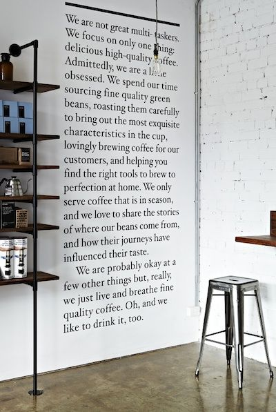 I would love to own a coffee shop some time and get really inspired when I see a beautiful spaces that are undoubtedly filled with the wonderful aroma of good coffee!!!!! so true!!!!!!