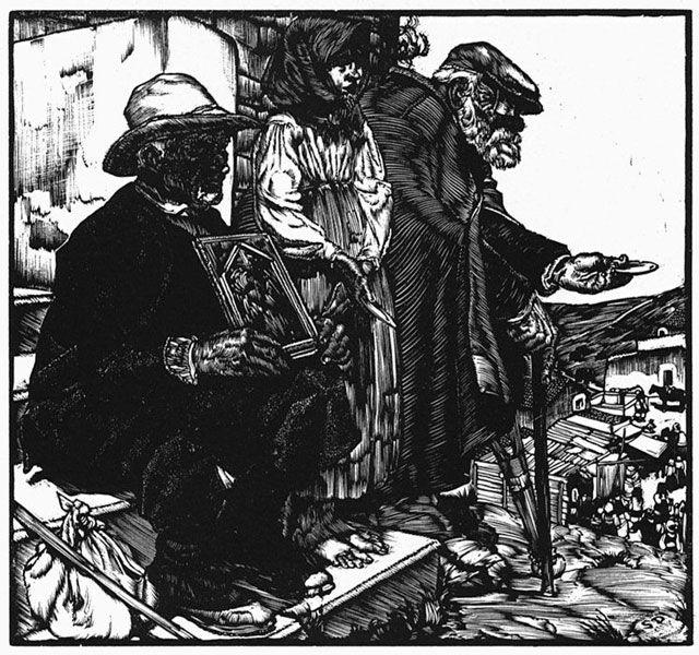 Stanis Dessy Mendicanti di Monte Gonare, 1930, xilografia