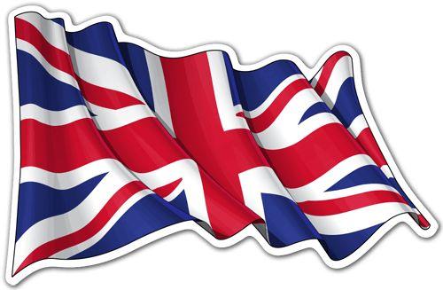 Pegatinas: Bandera del Reino Unido ondeando #bandera #pegatina #TeleAdhesivo
