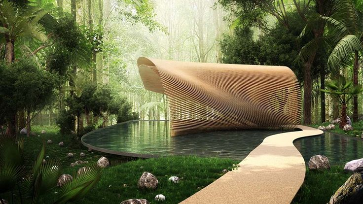 translating to 'flower bud' from japanese, the tsubomi villas will feature a louvered canopy providing privacy and openess at the same time.