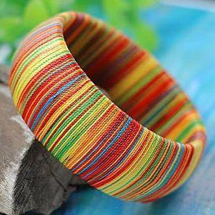 Национальный старинные ювелирные изделия тенденция плед паваны ночной рынок браслет красочный шелковая нить