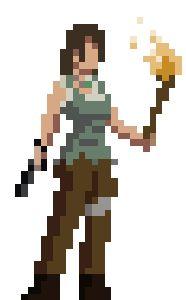 Pixelly Lara Croft