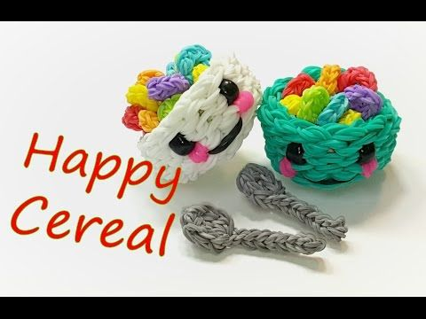 Happy Cereal (in a bowl) Tutorial by feelinspiffy (Rainbow Loom) - YouTube. SO CUTE!!!!!!