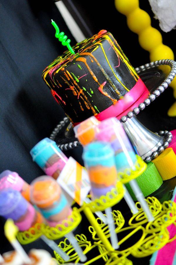 Neon Color Scheme Birthday Party Via Kara S Party Ideas
