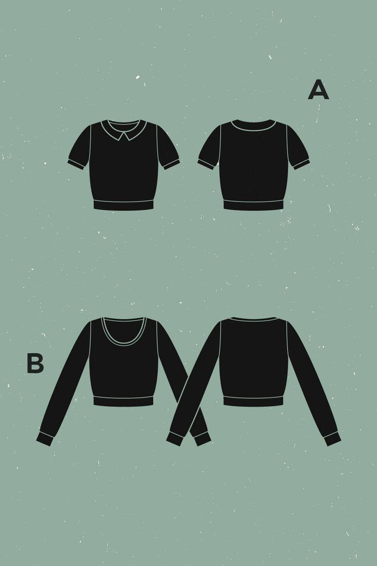 Ondée knit sweater, Deer and Doe pattern