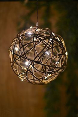 """19.99 SALE PRICE! Decorate your special event with the 8"""" Grapevine Ball. This lighted sphere features 20 warm white LED lights illuminating its natural..."""