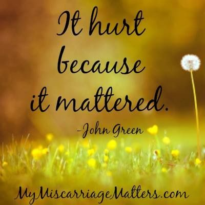 Free support is available for Moms and Dads who have suffered a loss through miscarriage, stillbirth, or early infant loss. Visit us at www.mymiscarriagematters.com and 'like' us on Facebook www.facebook.com/pages/miscarriage-matters-inc/368154849870160?ref=nf