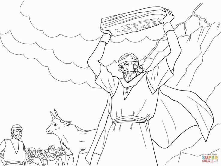 Free Bible Coloring Pages Moses Coming From The Mountain