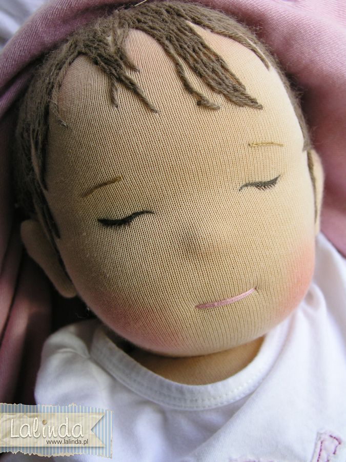 Weighted waldorf baby doll made by Lalinda.pl
