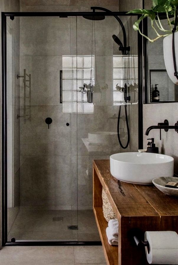 Interior Design Illustrated Francis Ching Interior Design Tv Shows Interio Int In 2020 Small Bathroom Remodel Industrial Style Bathroom Small Bathroom