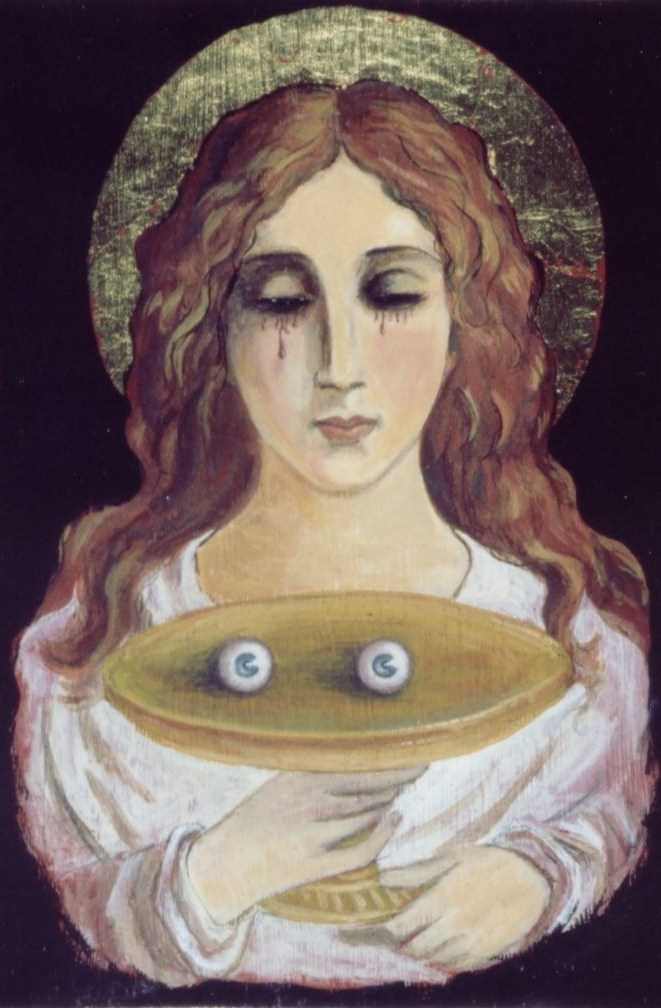 St Luzia Lucia Of Sicily Patron Saint Of Eyes