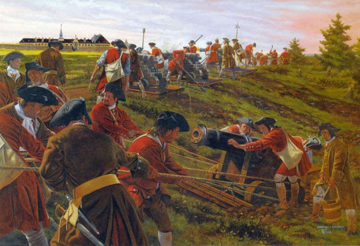 The Siege of Louisbourg took place in 1745 when a New England colonial force aided by a British fleet captured Louisbourg, the capital of the French province of Île-Royale (present-day Cape Breton Island) during the War of the Austrian Succession, known as King George's War in the British colonies.