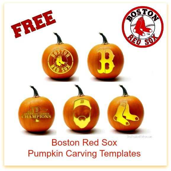 Free Boston Red Sox Pumpkin Carving Templates - The Prudent Patron
