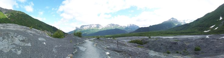 Panoramic View from Exit Glacier in Seward, Alaska 2008