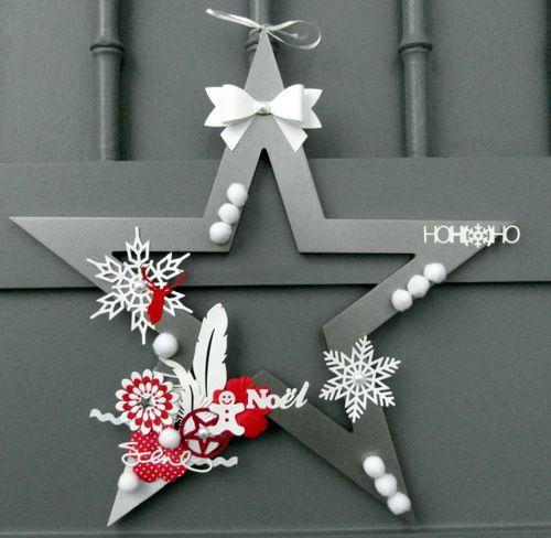 couronne étoile de noël - par za sur www.kesi-art.com