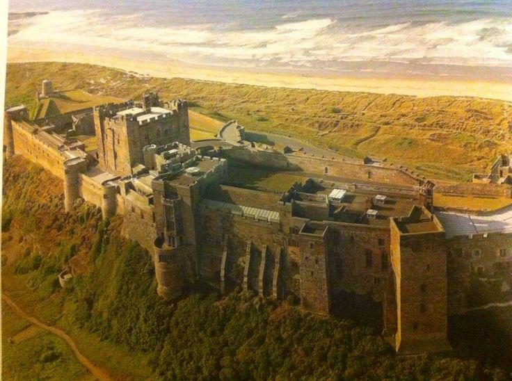 Bebbanburg. (Bamburgh castle) Uhtreds home — From Bernard Cornwell Facebook page. This castle was successfully defended against the vikings.