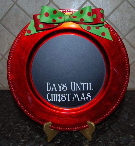 buy online accessories for htc one x Christmas Charger Plate Countdown Days Until by ElevateYourDecor   14 00    days until Jesus  39  birthday