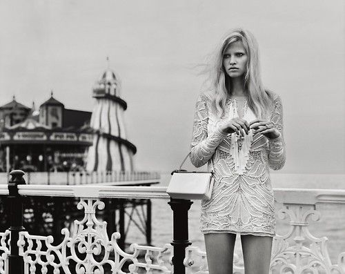 Lara Stone photographed by Alasdair McLellan for the November 2010 issue.