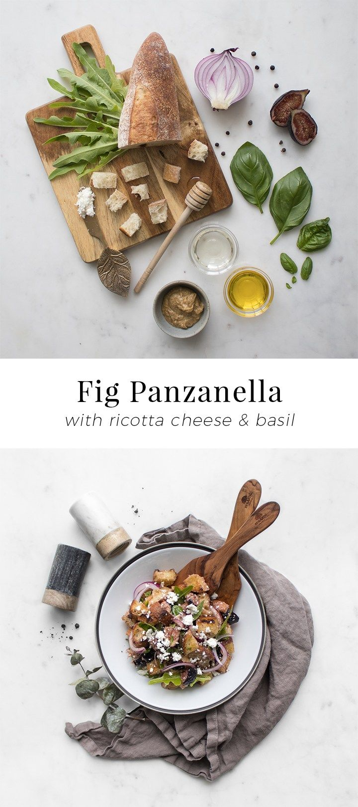 Fig Panzanella with Ricotta & Basil   Chef Sous Chef