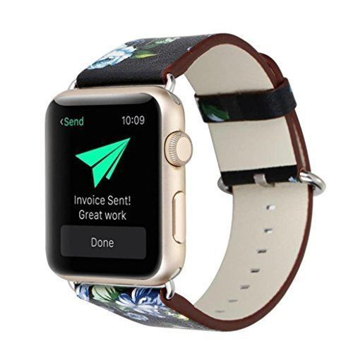 Watch Band For Apple 42mm Leather Metal Strap Clasp iWatch Strap Series 1 2 New #WatchBand42mm