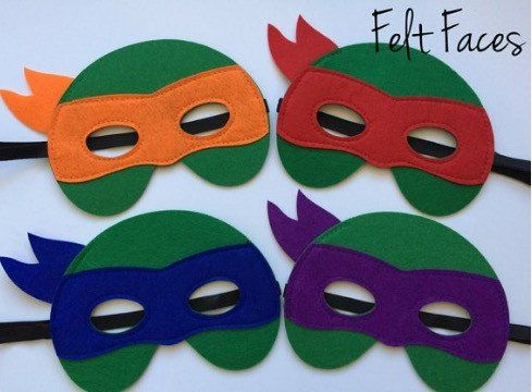 Teenage Mutant Ninja Turtle Party Masks, TMNT Party Favors