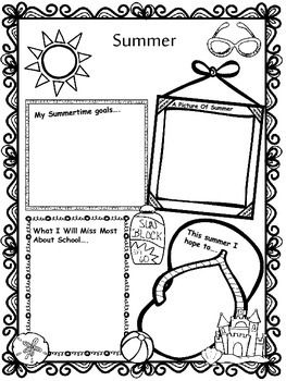 FREE Summer activity - Great for the end of the school year!