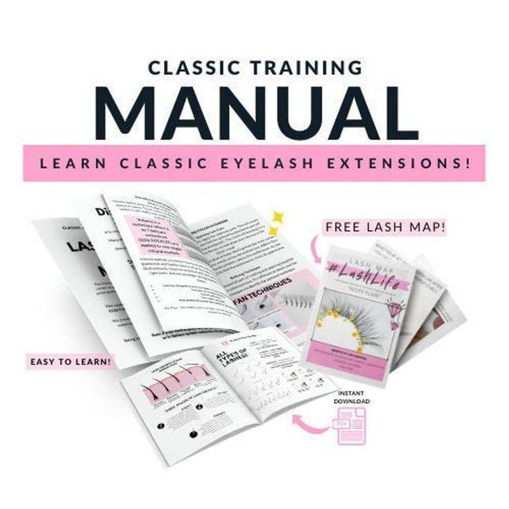 Eyelash training manual classic lash training bootcamp