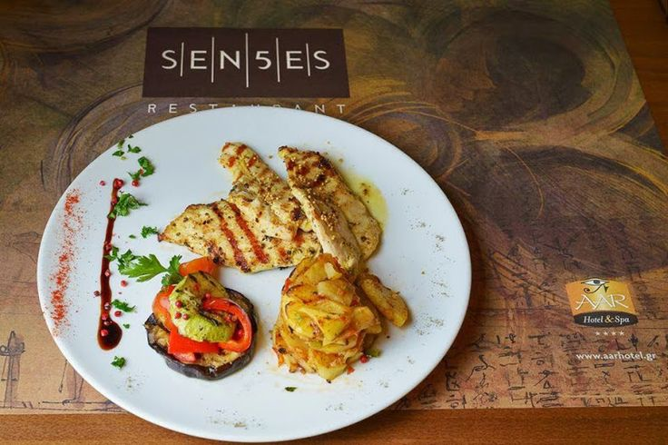 Chicken Fillet with Mustard Seeds, Potatoes & Roasted Vegetables