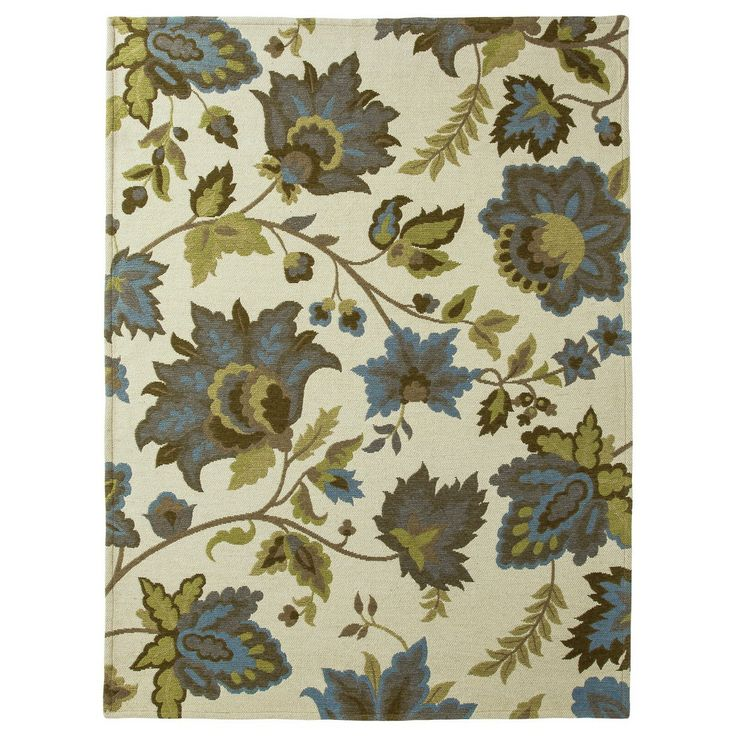 Green Area Rug Target: Threshold™ Cabana Floral Area Rug