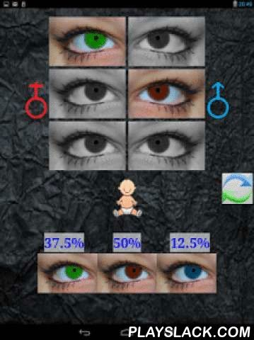 Baby Eye Color Predictor  Android App - playslack.com , This application will help you to define which color of eyes will your baby will have.You need select Mother and Father color of eyes and application will give you possibilities of baby's eyes color.Select MOST CLOSE color to your eyes color.There are 3 different major eyes colors:1. Amber2. Green3. BlueAll other are color tint (more bright or more dark).Special Eyes color selections:Black = Amber = Hazel = Brown ! All are color tint of…
