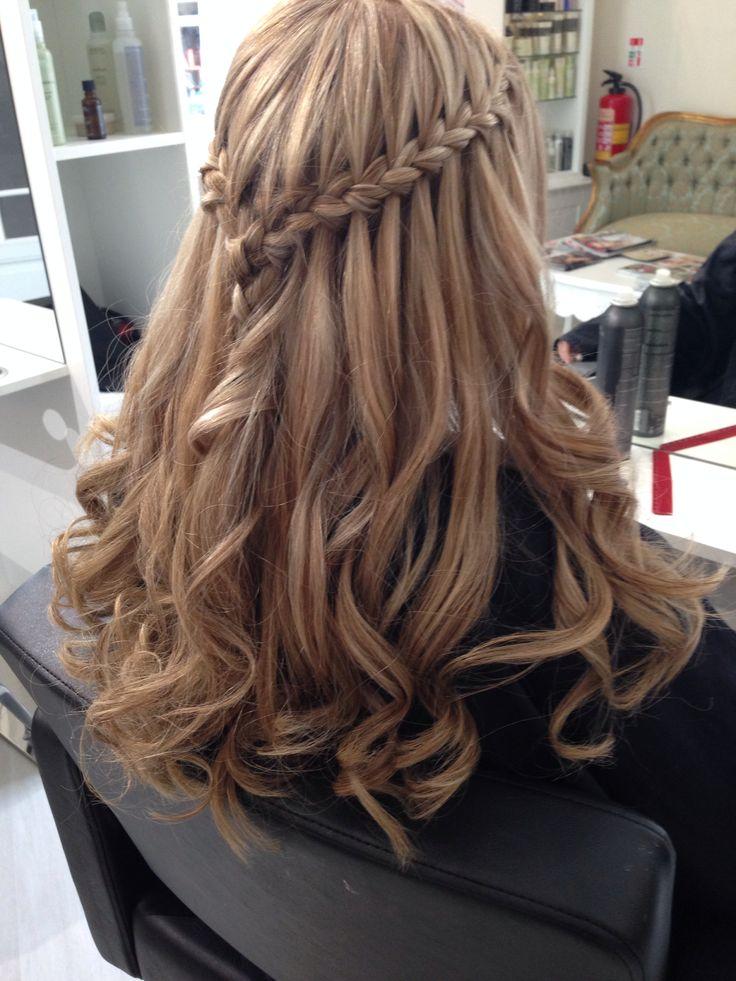 Waterfall braid with curls #plait #curls #blonde #blakeandbutler #york