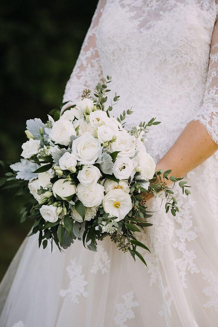Collin Abigail Got Married At William Allen Farm A Sweet Start White Wedding Bouquets Champagne Wedding Flowers Wedding Bouquets Bride