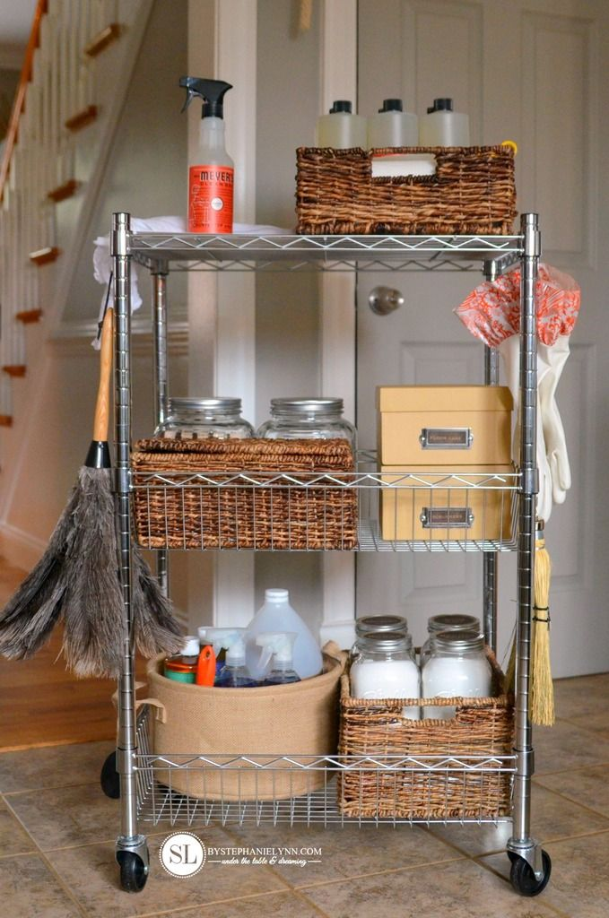 household Cleaning Products Supply Cart Housekeeping Caddy #michaelsmakers