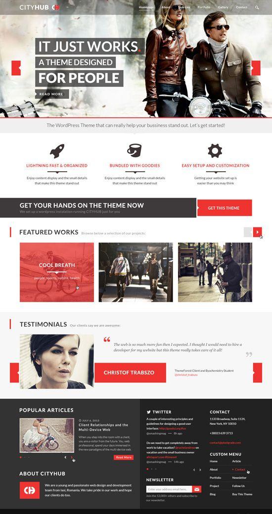 CityHub: Responsive Agency Blog WordPress Theme #wordpressthemes #responsivewordpressthemes #flatdesign #responsivedesign