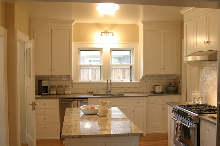 New period style kitchen in a circa 1920 prairie craftsman for 1920s style kitchen cabinets