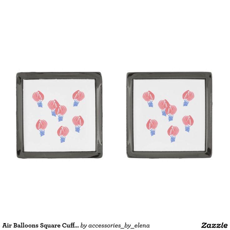 Air Balloons Square Cufflinks