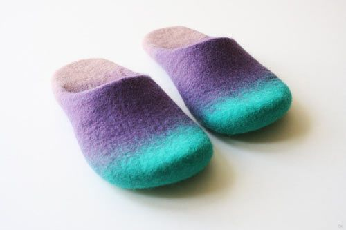 Wool Felted Slippers by Onstail Photo  @Jaki Lambert