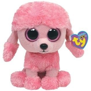 """10 """" Ty Beanie Boo's Baby Pink Poodle Puppy Dog """"Princess"""" Stuffed Animal Toy"""